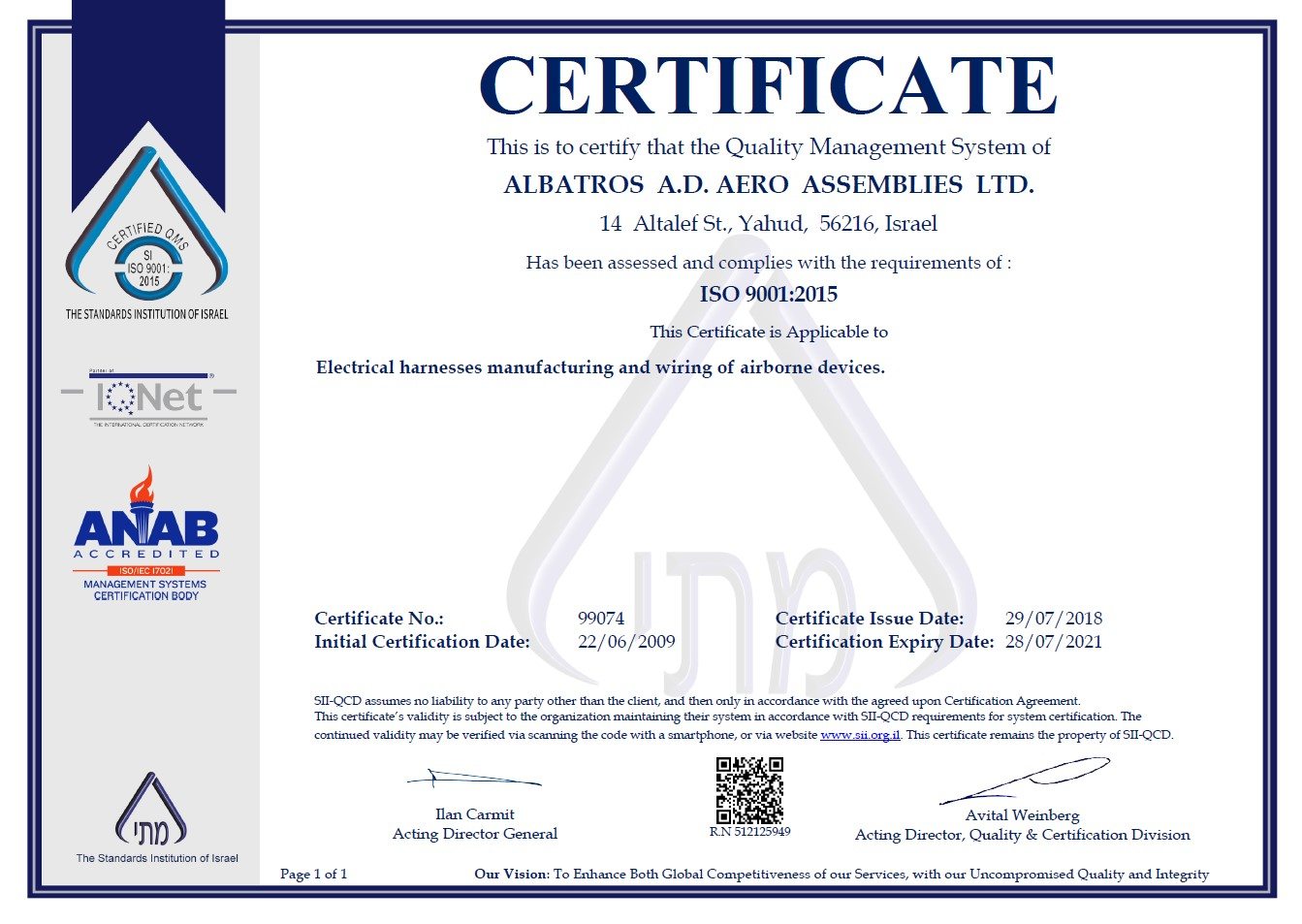 Standards And Certifications Albatros
